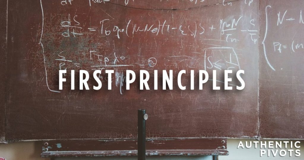 authentic pivots first principles